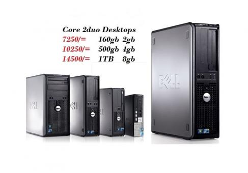 Core 2duo or Duo Core processors DESKTOP COMPUTERS