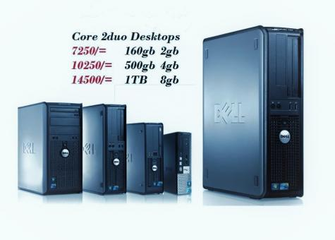 Core 2duo and Duo Core Computers with no accessories